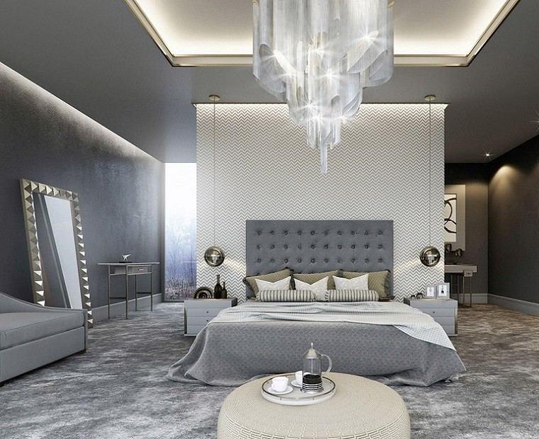 Cabeceros originales 70 ideas para el dormitorio de tus for Espejos grandes para dormitorios