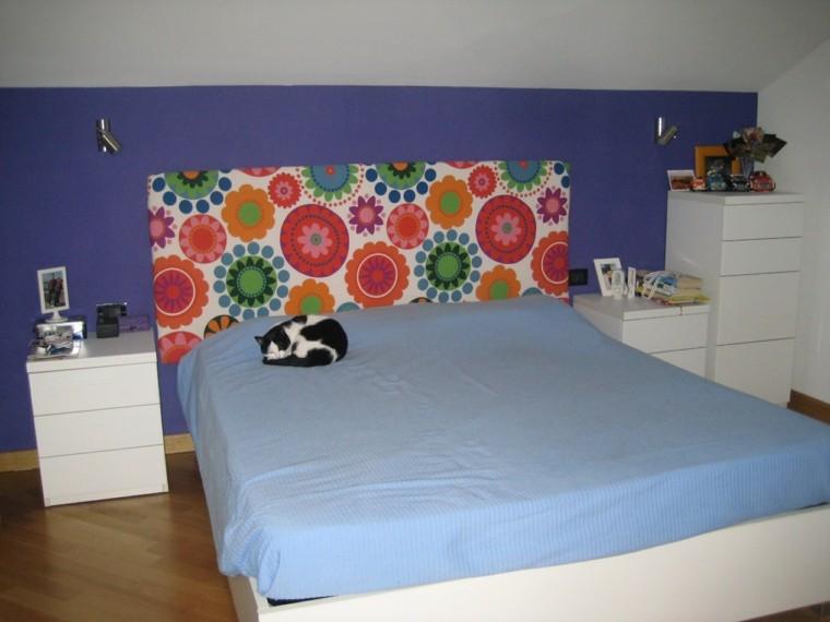 Cabeceros hechos a mano cincuenta ideas geniales - Cabecero de cama acolchado ...