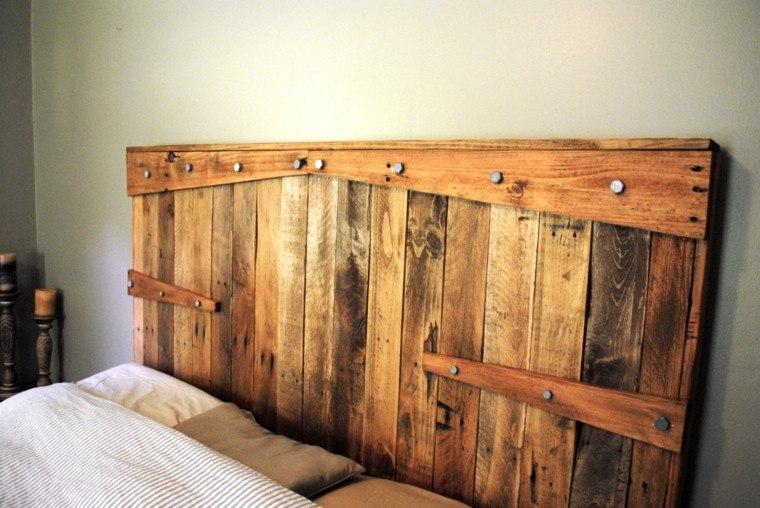 Cabeceros hechos a mano cincuenta ideas geniales - Cabeceros de madera rusticos ...