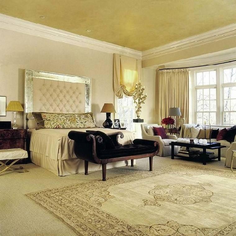 cabeceros originales cama dormitorio moderno cuero plata ideas