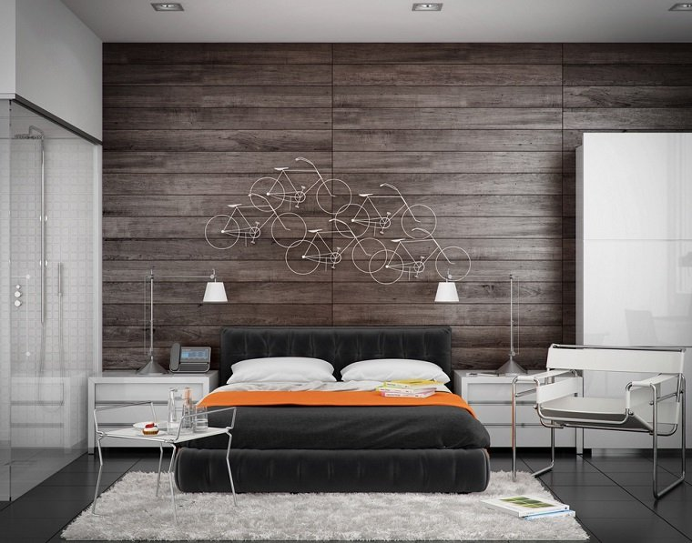 cabeceros originales cama dormitorio moderno decoracion pared preciosa