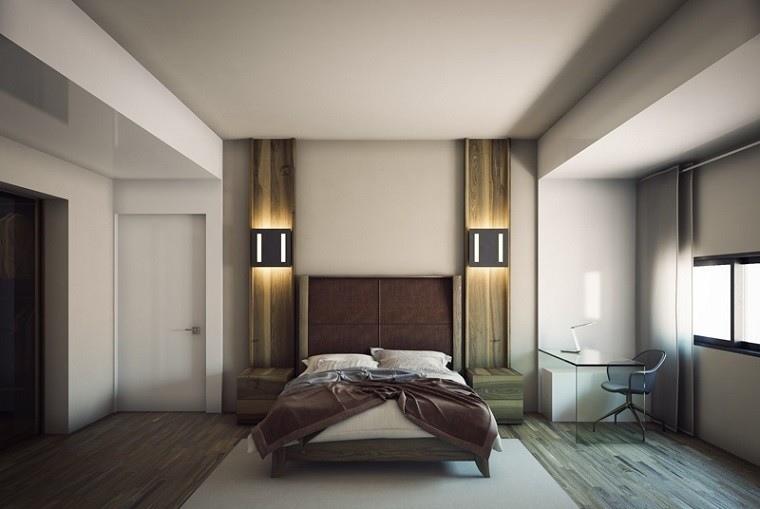 cabeceros originales cama dormitorio moderno lamparas preciosas ideas