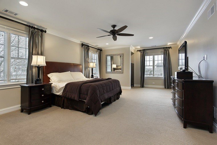 cabeceros originales cama dormitorio moderno madera amplio ideas