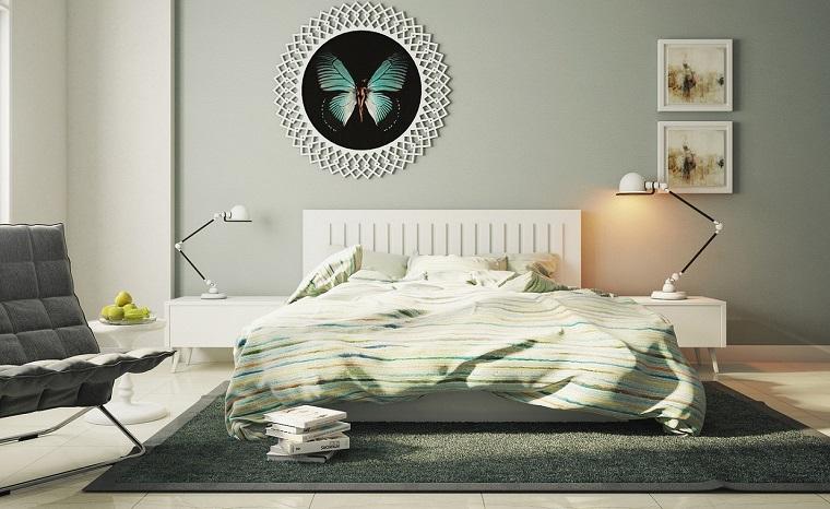 Cabeceros originales 70 ideas para el dormitorio de tus - Cuadros encima cabecero cama ...