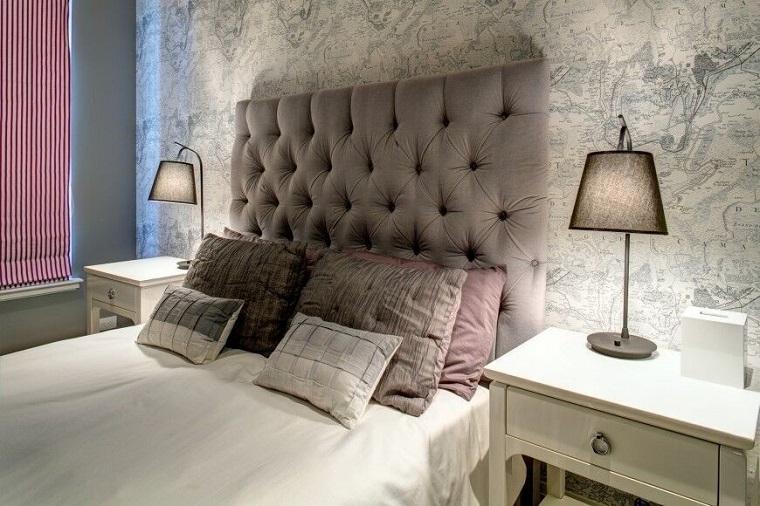 cabeceros originales cama dormitorio moderno pared preciosa ideas