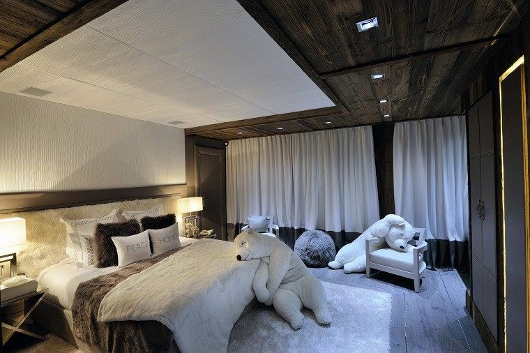cabeceros originales cama dormitorio moderno peluche oso ideas