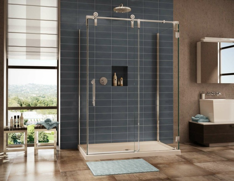 Ba os modernos con ducha cincuenta ideas estupendas - Cabina de ducha barata ...