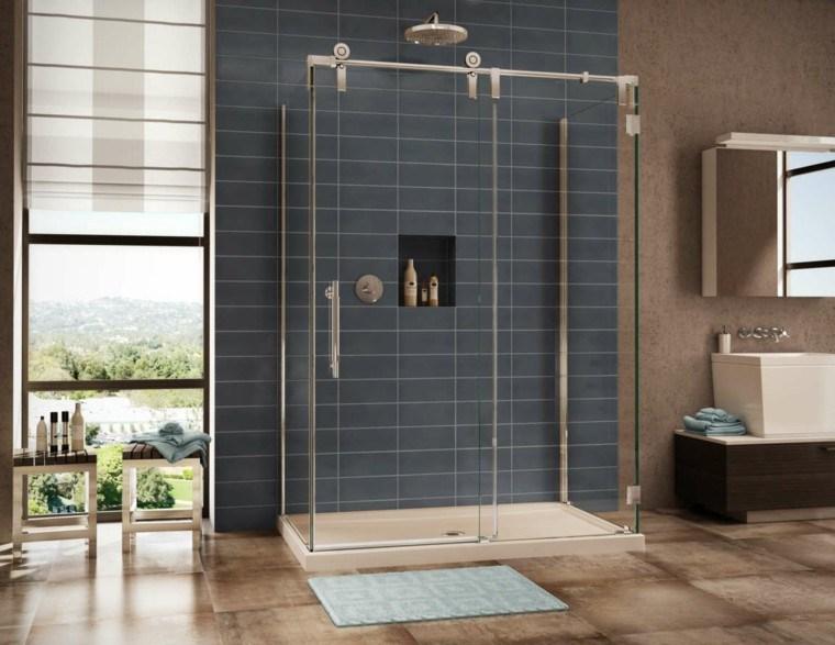 cabina ducha azulejos cabina grises