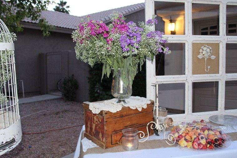 caja madera decoracion jardin