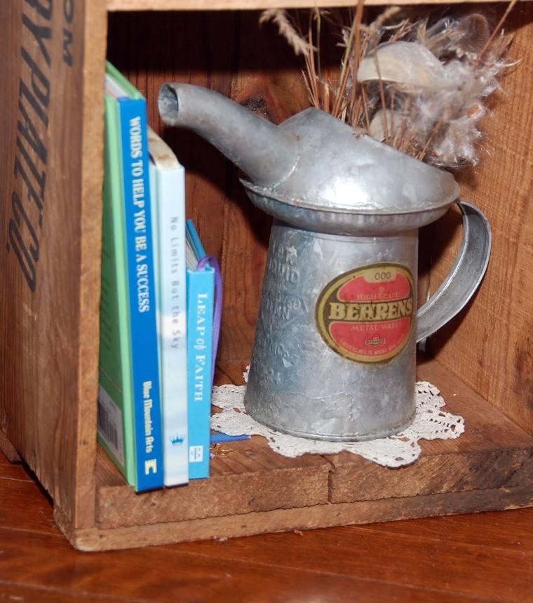 caja madera decoada retro