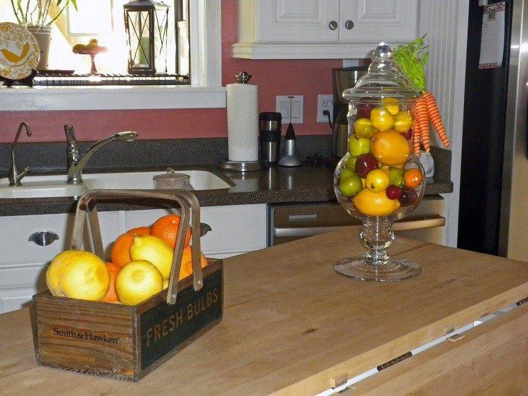 caja madera frutas cocina asas