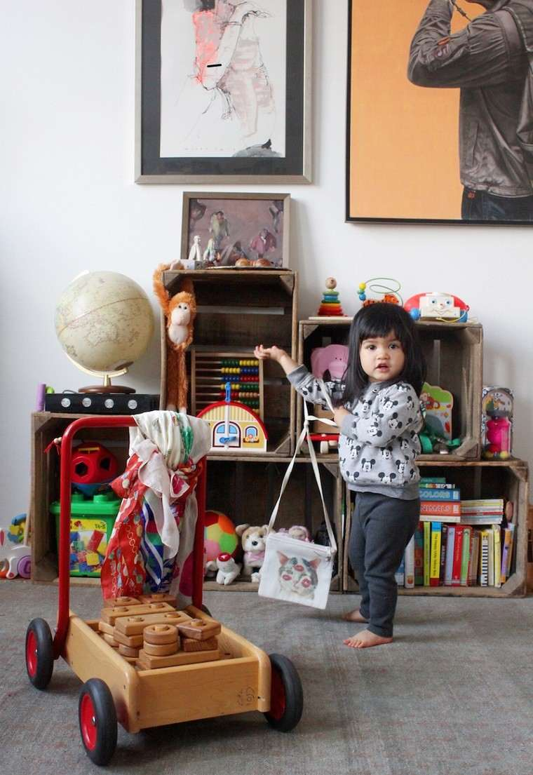 Muebles reciclados hechos con cajas de frutas - Cajas para almacenar juguetes ...