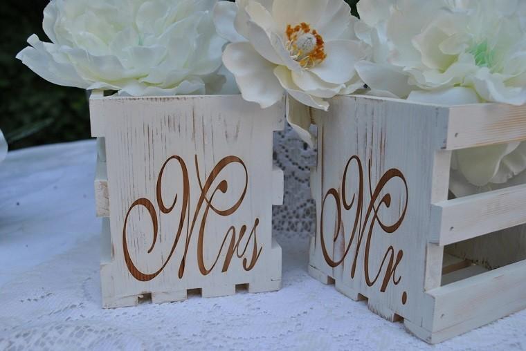 cajas madera pintadas estilo shabby