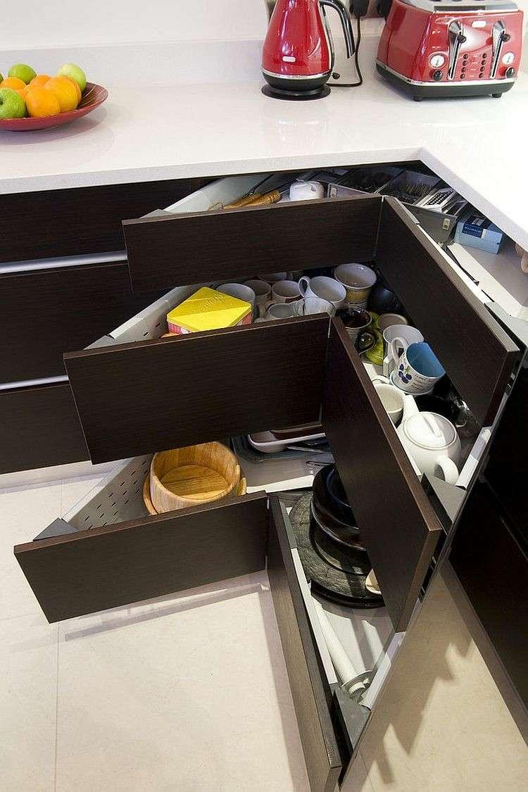 cajones esquineros grandes necesidades especificas cocina ideas