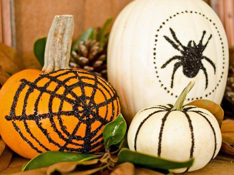 decoracion infantil diseño arañas calabazas