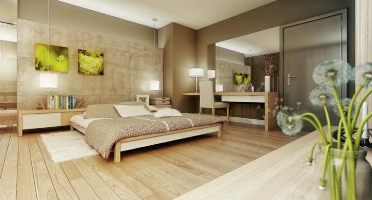 cama baja detalle madera cuadros