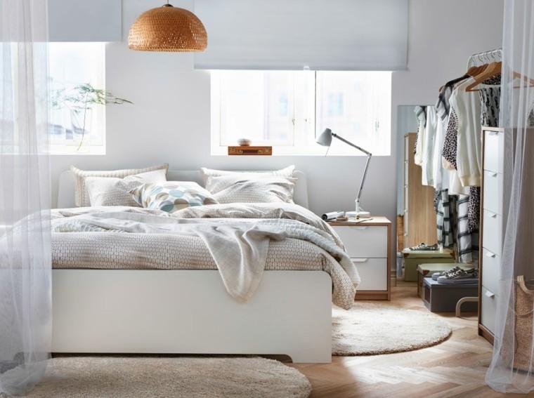 cama blanca catalogo ikea dormitorio