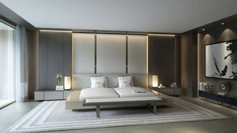 cama doble diseño decoracion cojines