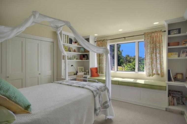 cama dosel asiento la ventana