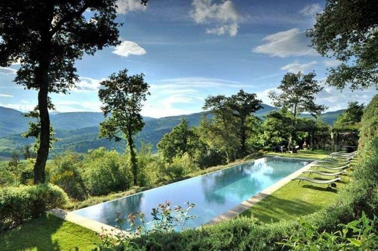 Oasis moderno 100 ideas para refugios en el jard n Piscina natural jardin