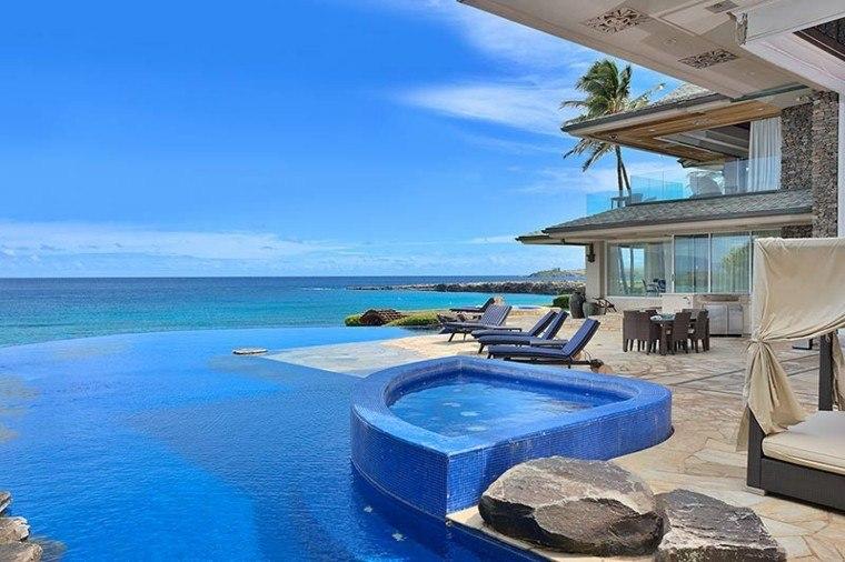 casa terraza grande vistas oceano jacuzzi pisicna ideas