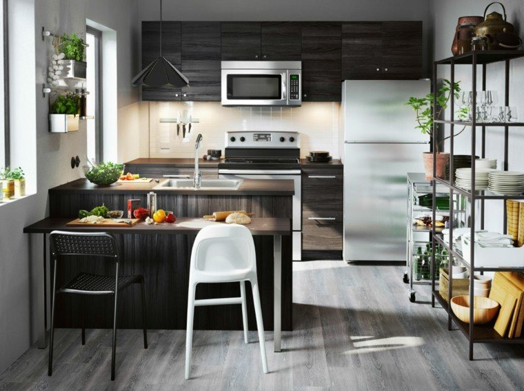 catalogo ikea cocina color marron