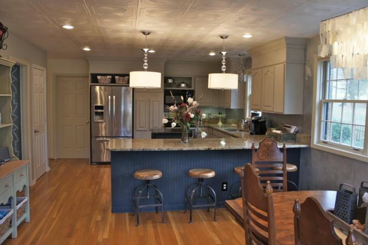 cocina moderna paredes color gris
