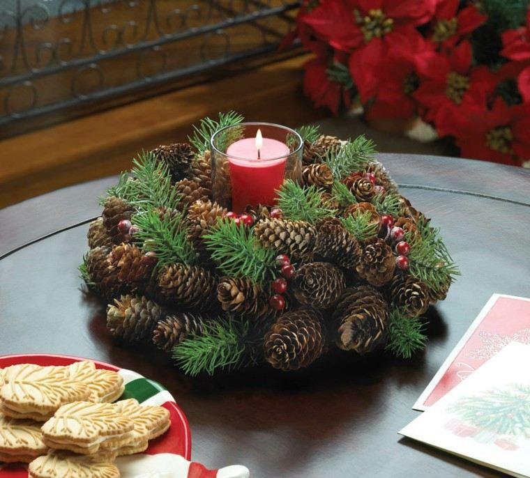centro mesa diseño velas fuego