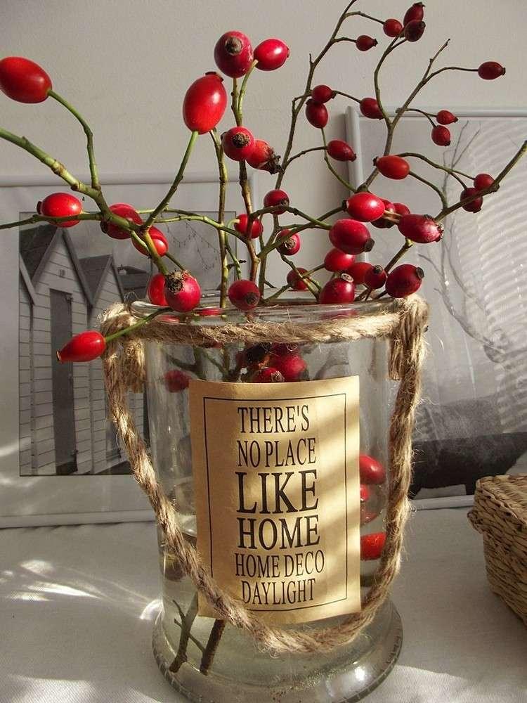 cesta rosal rojas decoracion