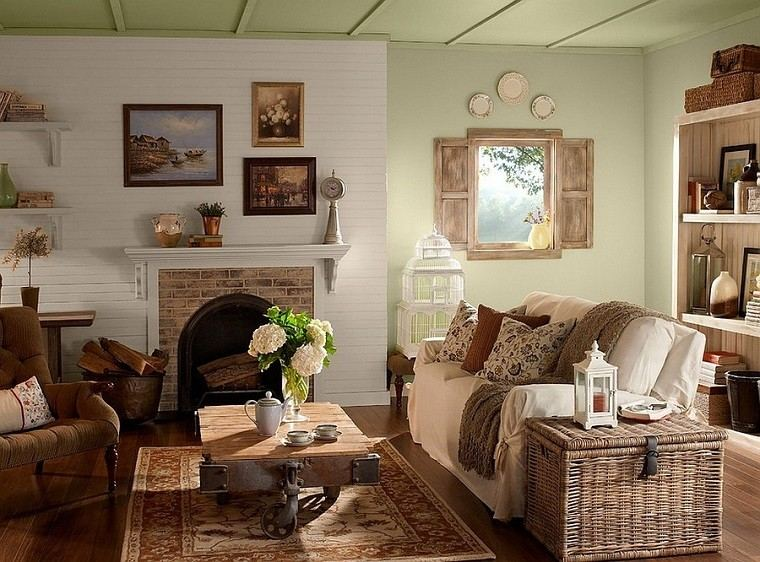 salones rusticos 50 ideas perfectas para casas de campo living room rustic country decorating ideas sunroom