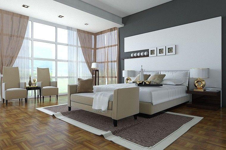 clasica habitacion diseño estilo matrimonio