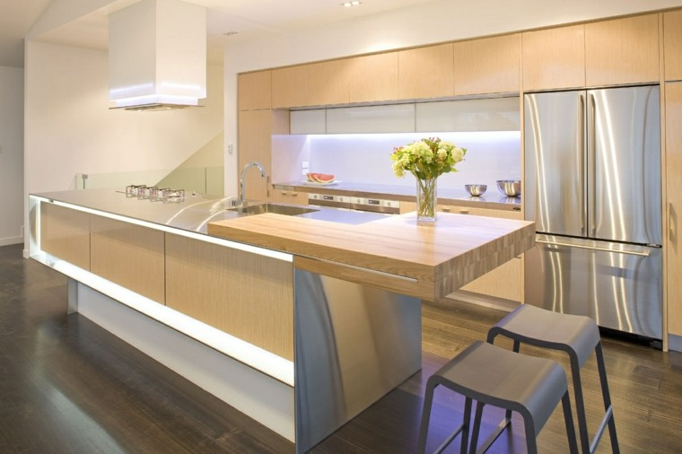 diseño cocina moderna luces led