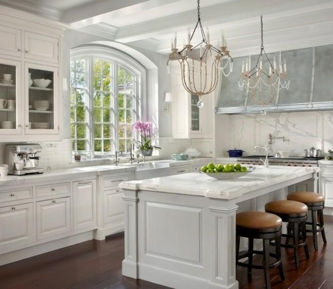 diseo cocina clasica colores claros - Cocinas Clasicas Blancas