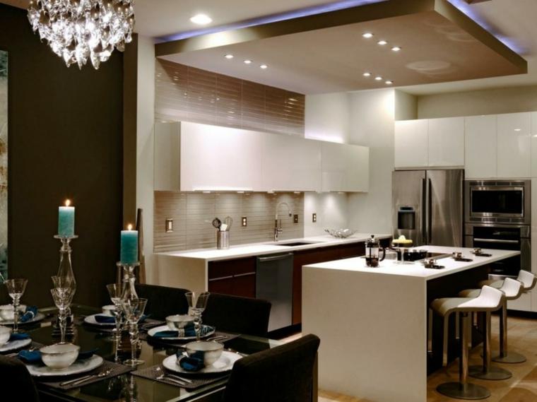 Falso techo de dise o moderno cincuenta modelos for Techos para cocinas