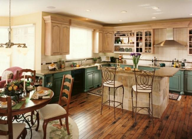cocina estilo retro verde jade