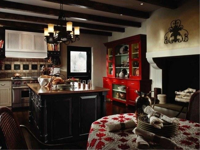 cocina tradicional diseño madera oscura