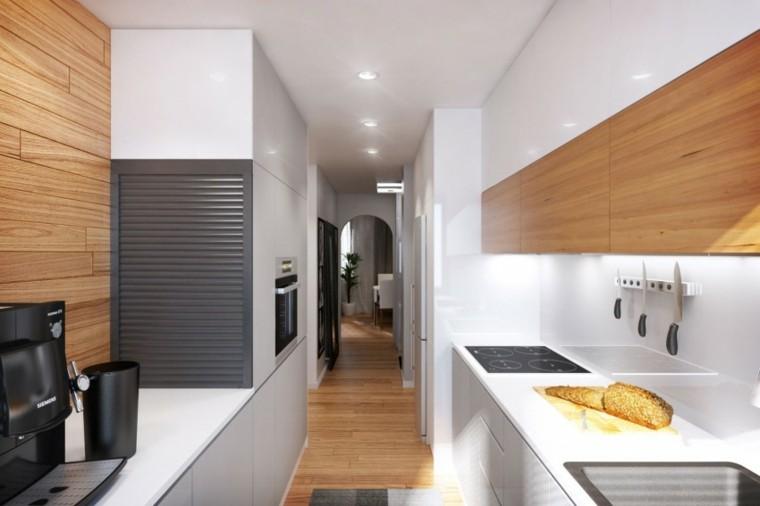 cocina diseño moderno madera roble