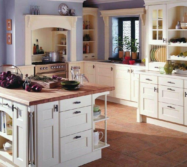 Cocinas pintadas con los colores de moda 50 ideas - Cocinas con color ...
