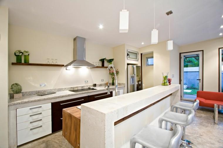 Cocinas pintadas con los colores de moda 50 ideas Color blanco roto para paredes