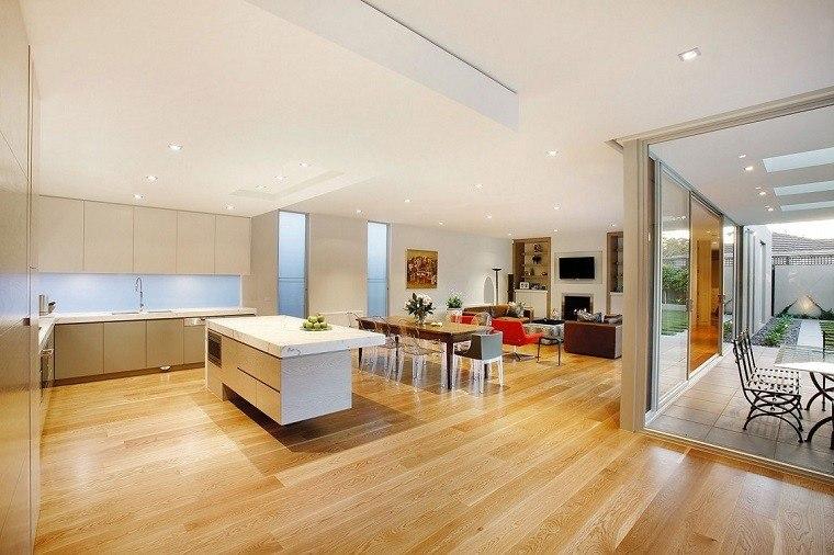 Dise o cocinas abiertas al sal n pr cticas y funcionales for Sala cocina y comedor en un solo ambiente pequeno