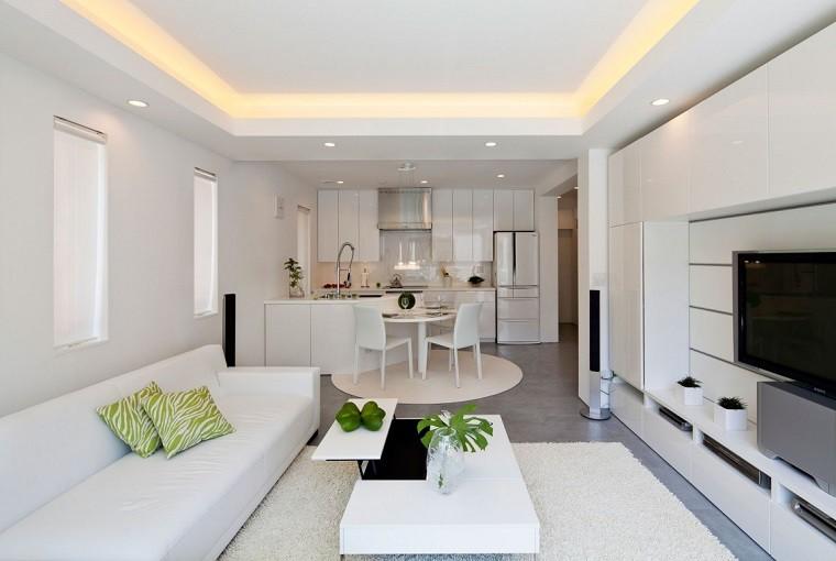 Dise o cocinas abiertas al sal n pr cticas y funcionales - Cocinas con estilo moderno ...