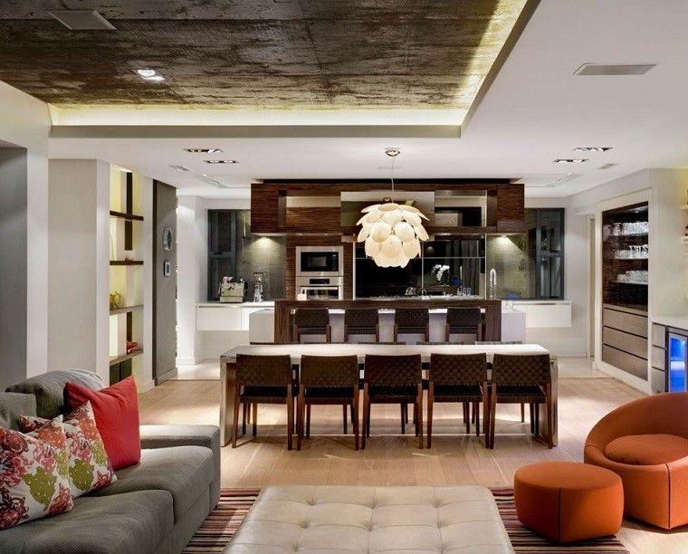 Sala comedor y cocina juntos ideas de salas con estilo - Como decorar una cocina comedor ...