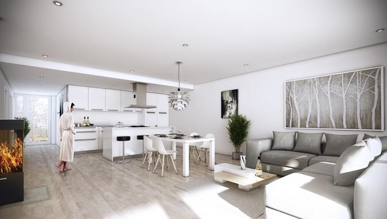 Dise o cocinas abiertas al sal n pr cticas y funcionales for Cocina y salon unidos