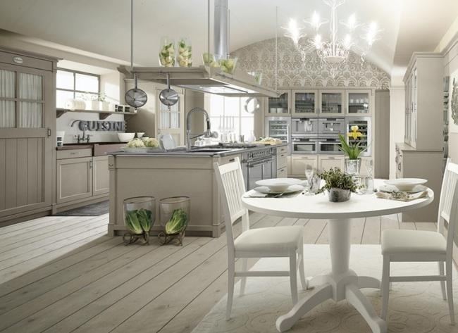 diseño cocina blanca estilo retro