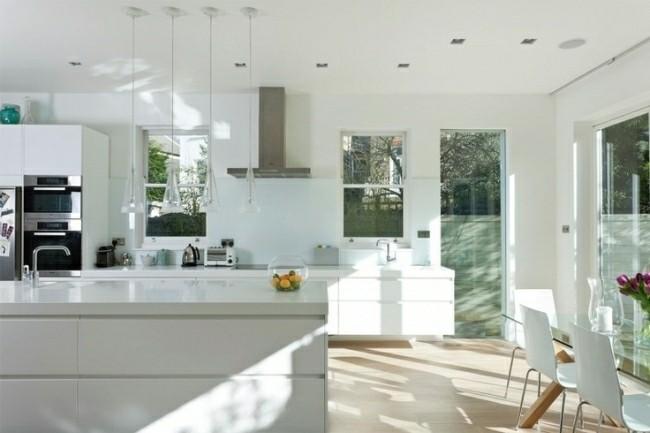 cocina blanca moderna diseño minimal