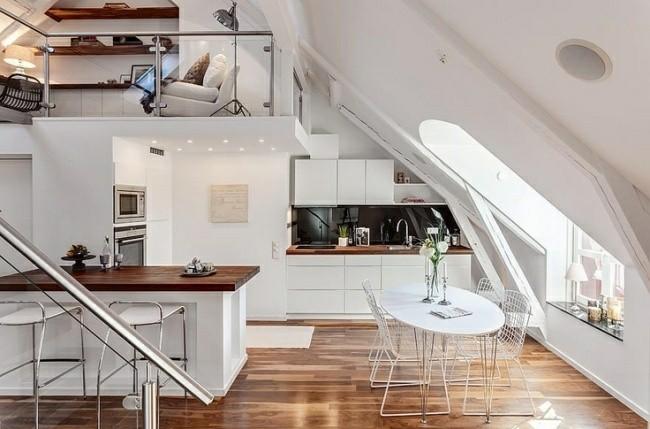 diseño cocina blanco madera moderna