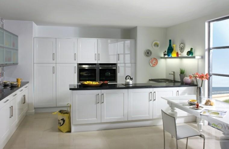 cocina clasica toques modernos armarios blancos ideas