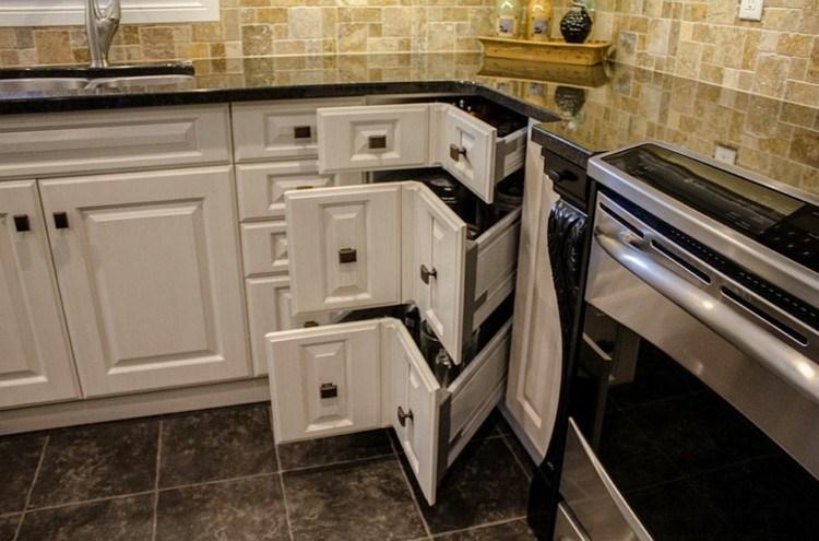 Armarios esquineros y soluciones de almacenaje originales - Losas para cocina ...