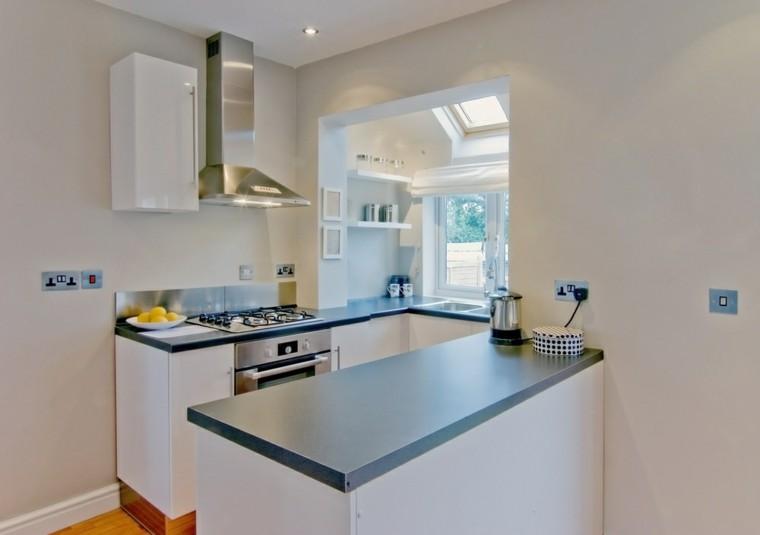 Cocina moderna en forma de u 50 ideas ultra originales - Cocinas en forma de u ...