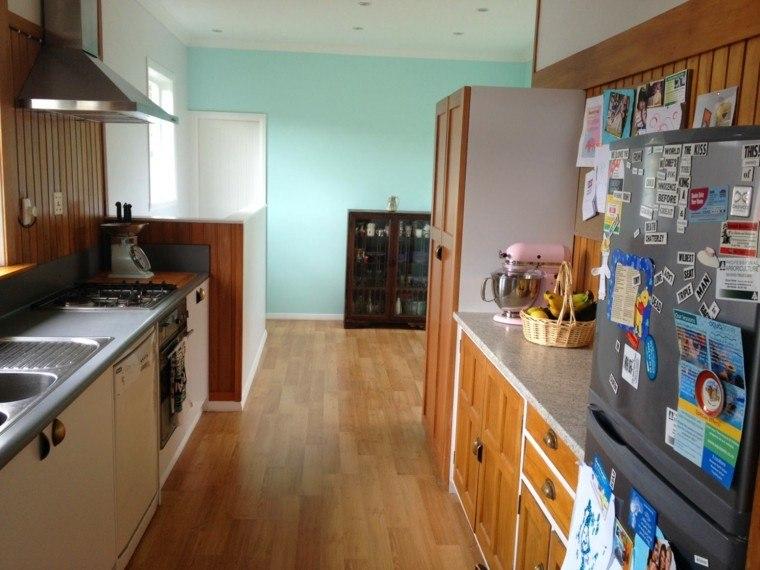 Cocinas pintadas con los colores de moda 50 ideas - Que color puedo pintar mi cocina ...